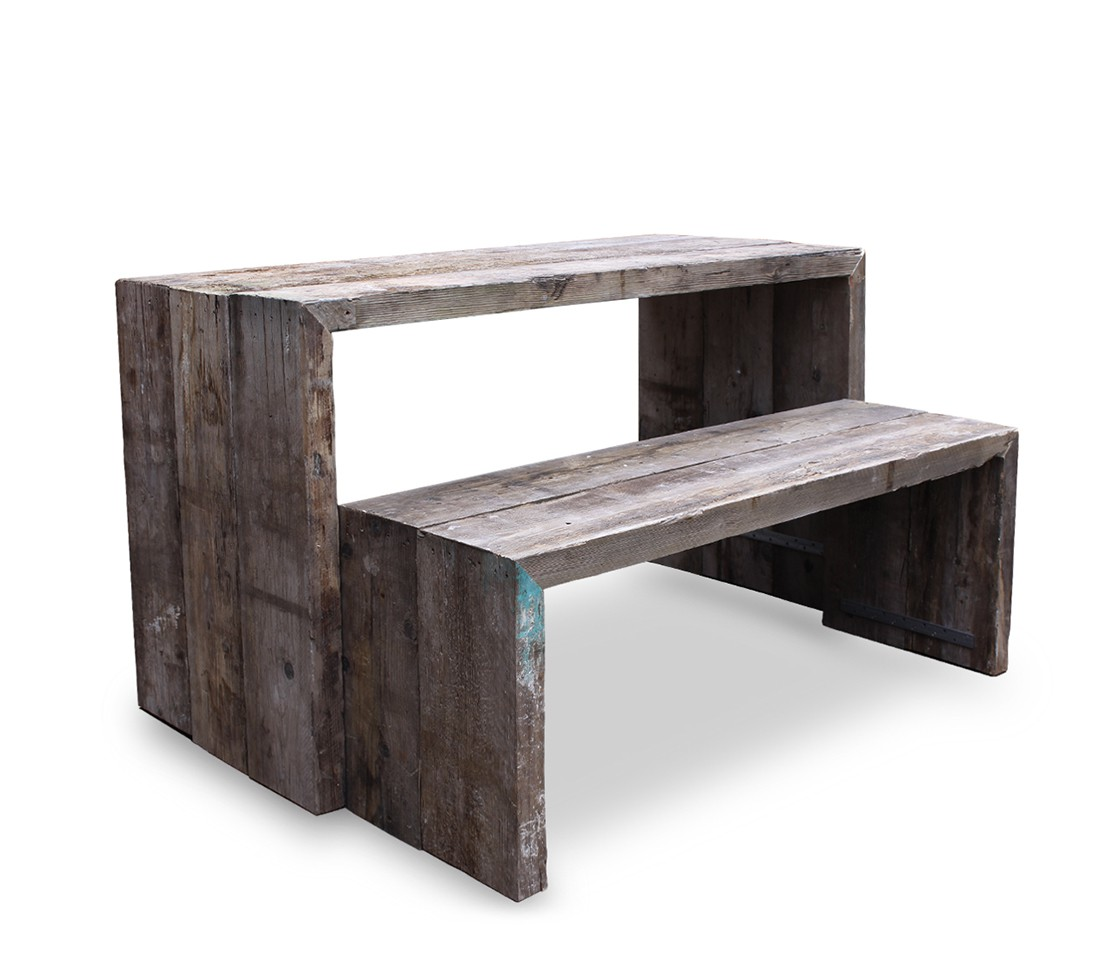 Recycled Table With Bench Seating Style Matters