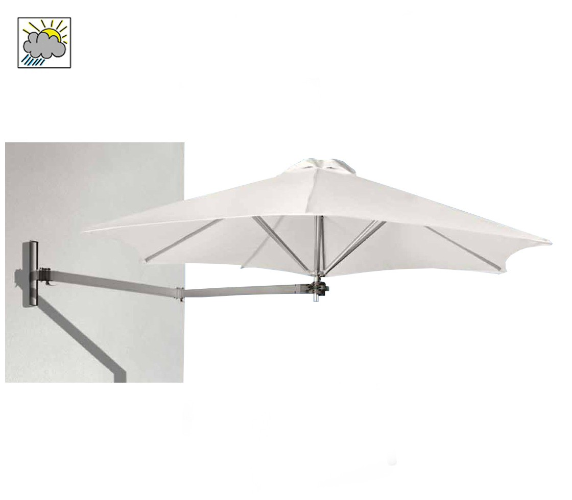 Paraflex Wall Mounted Parasol Small Round Style Matters